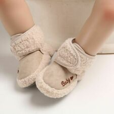Baby Girls Boys Winter Warm Boots Newborn Toddler Soft Fleece Sole Shoes 0-18m
