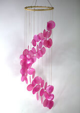 Pink Capiz windchime NEW garden / bedroom / bathroom mobile Large  FREE SHIPPING