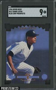 1996 Upper Deck Blue Chip Prospects Die-Cut Derek Jeter Yankees HOF SGC 9