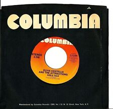 Elvis Costello I Can't Stand Up For Falling Down bw Girl's Talk 45 CBS 11194