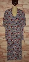 Vintage FLAX Jeanne Engelhart Floral Two Piece Maxi Dress and Blouse Size Large