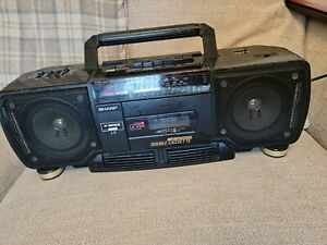 Sharp WQ-T238 X BASS Stereo Radio Double Cassette boombox.Cd line in