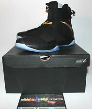 Nike Air Lebron X 10 Soldier Championship Black Gold Sneakers Men's Size 12 New