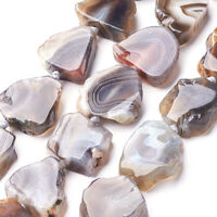 13pcs/Strd Natural Botswana Agate Stone Beads Freeform Nugget Semi Gems 22~26mm
