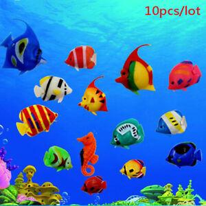 10pcs Aquarium Fish Tank Artificial Fake Floating Fish Pet Decor Or  RSA B Tg