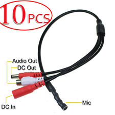 10x -MN High Sensitive DC Audio Mini Mic Microphone for CCTV Security DVR Camera