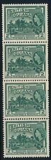 British Guiana QEII 1954-63 2c Two Coil Join Pairs Very Fresh Unmounted Mint