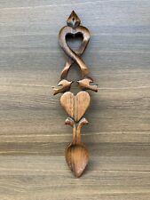 Stunning Vintage Welsh Hand Carved Love Spoon