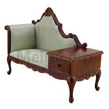 1:6 scale Fine Doll Furniture European classical Telephone chair Handmade wood
