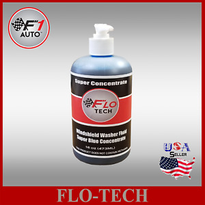 FLO-TECH 16OZ (SUPER CONCENTRATE)  BLUE CAR WINDSHIELD WASHER FLUID MAKES 100GAL