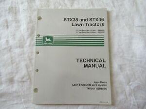 John Deere STX38 STX46 lawn garden tractor service technical manual excellent