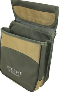 Jack Pyke Sporting Cartridge Pouch Double Pocket Clay Pigeon Shooting Green Tan