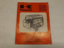Kawasaki GE2200-500 portable generator operators handbook