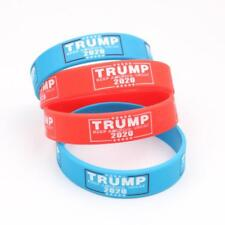 4Pcs Donald Trump Election Silicone Bracelet Keep America Great  President 2020