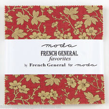 Moda FABRIC Charm Pack ~ FRENCH GENERAL FAVORITES ~  42 - 5 inch sqs
