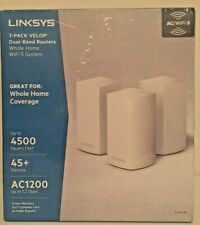 3-pack Linksys Velop Home Dual Band Routers WiFi System AC1200 WiFi 5 New Sealed