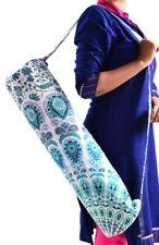 New listing Blue Yoga Mat Bag Shoulder Sling Gym Storage Carrier Pack Fitness Portable Pouch