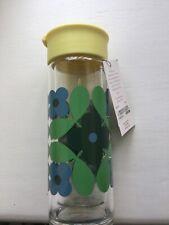 Orla Kiely Flower Tile Glass Travel Bottle BNWT