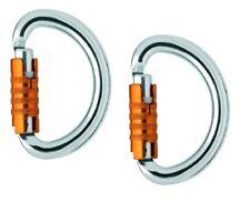 Petzl Omni Triact-Lock - set of 2 Semi-circle carabiner for closing a harness