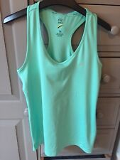 LADIES *F&F Active* GREEN FITNESS RACER BACK TOP SIZE 14 Excellent Condition