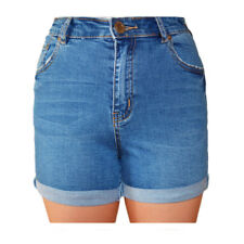 WAKEE BLUE SHORTS WITH ROLLED CUFF. SIZE 6-16