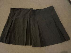 Girls Grey John Lewis School Skirts X2 Age 11