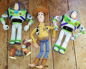 Disney Vintage Woody Talking Doll Toy Story Bundle Slinky Buzz Lightyear Figures