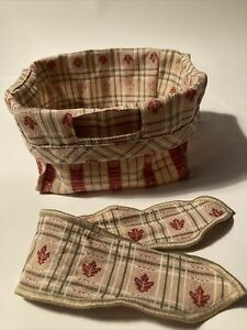 Longaberger  Basket Liner With Handle Tie ~ Fall Leaves