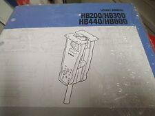 Volvo HB200 HB300 HB440 HB800 Hydraulic Breaker Service Manual