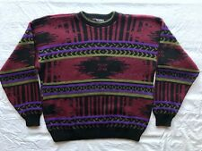 Scandia Red, Purple and Green Sweater Men Xl