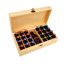 25 Slots Essential Oil Storage Box Wooden Case Container Aromatherapy Organizer