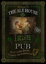 THE ALE HOUSE  TRADITIONAL IRISH PUB SIGN VINTAGE STYLE METAL SIGN GREAT GIFT