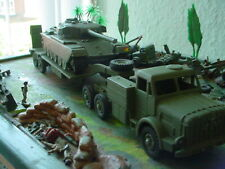 dinky military army antar tank transporter and tank