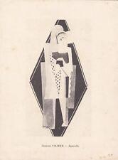 1924 CUBIST POCHOIR GEORGES VALMIER ( FRENCH 1885 -1937 )