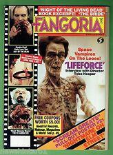 #LL. FANGORIA HORROR MOVIE  MAKEUP MAGAZINE #46, Vol. 3, 1985