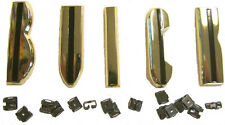 """BUICK"" GOLD HOOD LETTERS 1955 56 ROADMASTER w/Orig. Type Clips +PARTS SALE LIST"