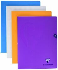 32 pagine a quadretti grandi 3 mm Clairefontaine 303796C Quaderno da scrittura Mimesys 17 x 22 cm colori assortiti copertina in polipropilene