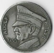 Rare German Leader Coin WWII Germany 5 Reichsmark Eagle Collection War Token us