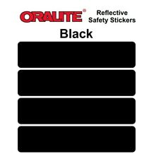 BLACK retro- Reflective Safety Stickers Bike Motorcycle Helmet Car