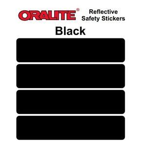 BLACK retro- Reflective Safety Stickers Bike Motorcycle Helmet Car