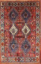 "Excellent Geometric 5x7 Yalameh Shiraz Persian Oriental Area Rug 7' 3"" x 4' 10"""