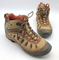 Merrell Chameleon Arc 2 Mid Women Brown Tan Hiking Shoe Size 9.5 Pre Owned