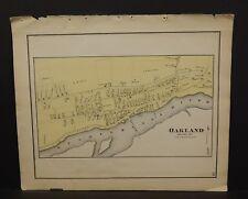 Pennsylvania Susquehanna County Map Oakland 1872 W15#90