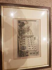 Framed MANCHESTER Cunliffes, Brooks & Co Bank  Market Street Antique Print 1829