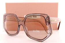 Brand New Miu Miu Sunglasses MU 58VS 5AK 08B Transparent Beige/Light Brown Women
