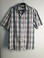 Jeep Men's Short Sleeve Check Shirt Size M
