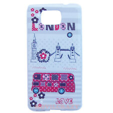 FUNDA CARCASA CASE TPU GEL DIBUJO CUSTODIA PARA SAMSUNG GALAXY ALPHA LONDON