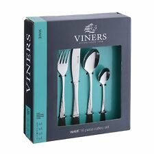 Viners Ambrose 16pc Cutlery Set Stainless Steel Knifes Forks Spoons and Teaspoon