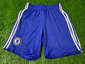 CHELSEA LONDON ENGLAND 2009/2010 FOOTBALL SHORTS HOME ADIDAS ORIGINAL SIZE M