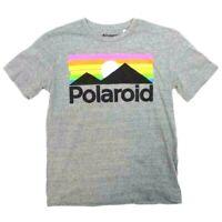 Polaroid Gray Rainbow Graphic Tee Shirt New